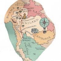 Map of Thailand for Condé Nast Traveler