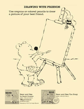 Bear and Bee Activity Sheets